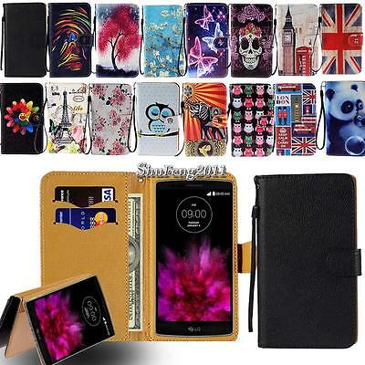 For Various LG SmartPhones - Leather Wallet Card Stand Magnetic Flip Case Cover