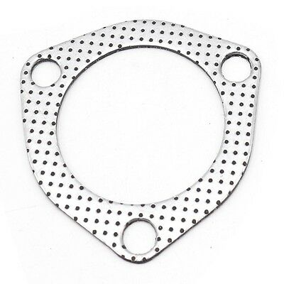 """2.5"""" High Temp Catback Exhaust Down Pipe Manifold Collector Flange Gasket 3 Bolt"""