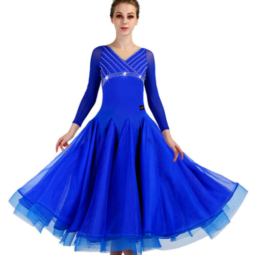 Pearl Waltz Ballroom Modern tango competition Flamenco Dance Dress 236