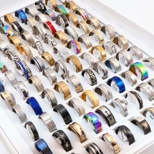 100pcs/lot mix styles TOP rings men