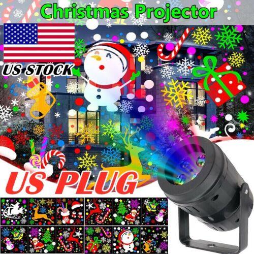 16Pattern Christmas Light Projector LED Laser Indoor Landscape Xmas Move Lamp US