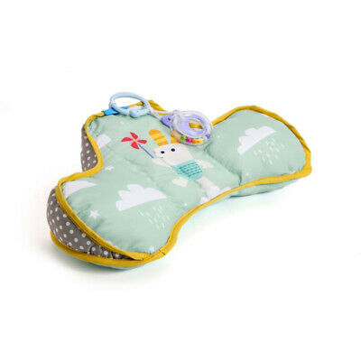 Taf Toys Tummy Time Developmental Pillow Activity Mat Includes Teether & Rattle