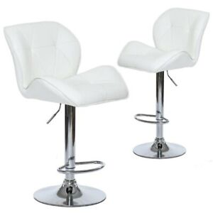 Set of 2 Tripatch Modern PU Height Adjustable Dining Bar Stool