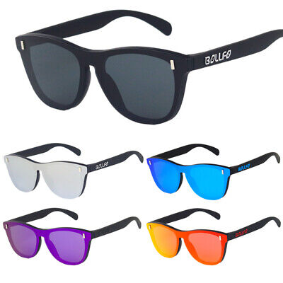 Rimless Polarized Sunglasses TR90 One Piece Frameless Candy Color Eye (Frameless Shades)