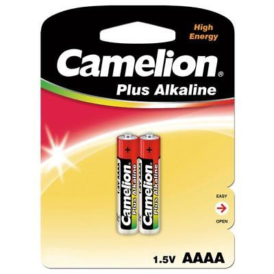 E 1 Batterie (2x Piccolo AAAA LR61 E96 L8 1,5V Alkaline-Plus-Batterie 2er-Blister von Camelion)
