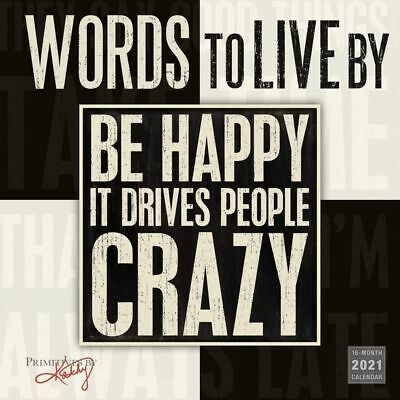 """2021 Words to Live By Monthly Wall Calendar 16-Month, 12""""x12"""""""