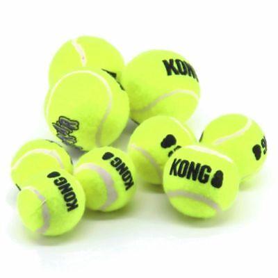 KONG AirDog Squeakair Ball - Apportierspielzeug Tennisball f. Hund mit Quitscher