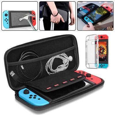 Custodia Da Trasporto Per Nintendo Switch Con Pellicole Protettive e Cavo USB