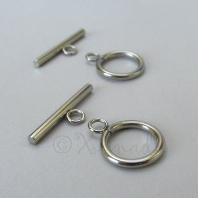 Stainless Steel Toggle Clasp Sets Wholesale Findings F1089 - 2, 5 Or 10 - Toggle Clasp