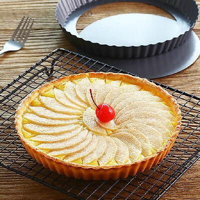 Pie Cake Tart Abnehmbare Non-Stick Bottom Backen Gebäck Form Pan ZK BCDE W0HWC ()