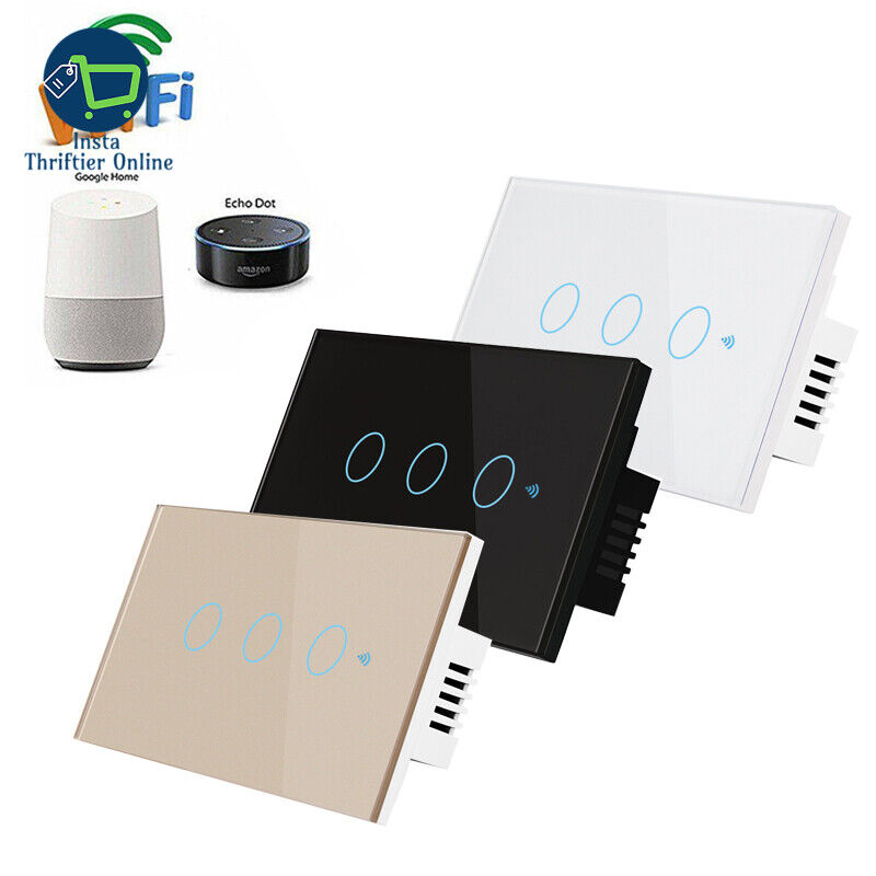 Smart Switch 1/2/3 Button WiFi & RF 120 Wall Touch Light