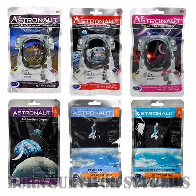 FREEZE-DRIED SPACE ICE CREAM & FRUIT Astronaut Food Snack Science MRE NASA -