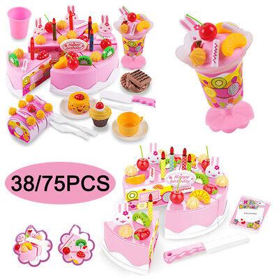 Lebensmittel Set Kuchen Schneide Spielzeug Kinder Spiel Küche Kaufladen Zubehör ()