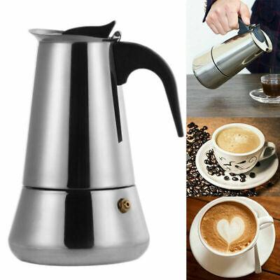 Espressokocher Moka Kaffee Kocher Maschine Induktion aus Edelstahl für 9 Tassen - Kaffeemaschine 9 Tasse