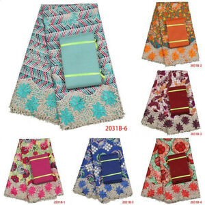 African & English Fabrics With Or Without Headtie [ New Arrival]
