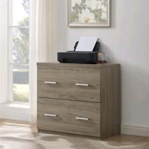 Wood Lateral File Cabinet from Wayfair in box.