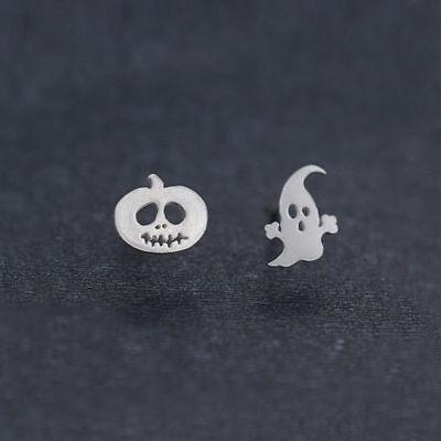 Cute Little Pumpkin Devil Dangle Ear Stud Earrings for Halloween Thanksgiving