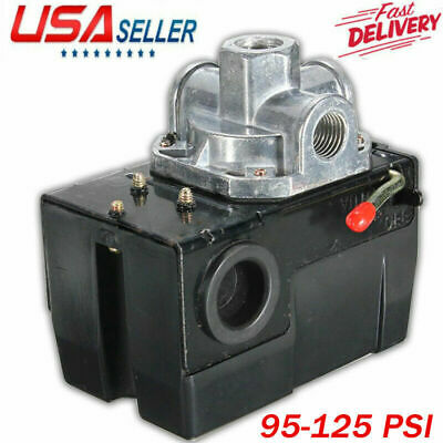 Air Compressor Pressure Switch Control Valve 95-125 Psi 4 Port On Off Lever