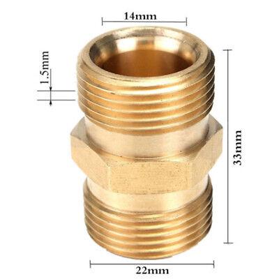 1x M22 Stecker Auf Adapter/Verbindungsstück Für Power Hochdruckreiniger Wasser ~