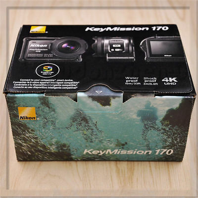 Nikon KeyMission 170 Action Cam Digital 4K HD Video Camera Camcorder Wi-Fi for sale  Shipping to India
