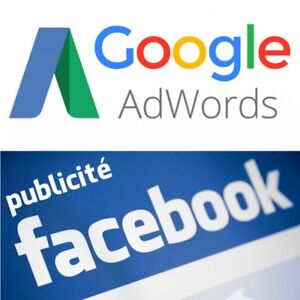 Gestion de campagne publicitaire Google Adwords & Facebook