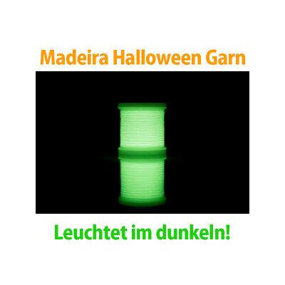 Madeira Halloween Garn - Nachtleuchtgarn - Stickmotive leuchten - Halloween Leuchten