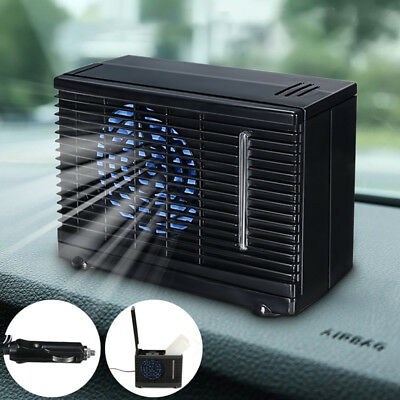 12V Car Evaporative Air Conditioner Car Truck Water Ice Cooler Fan Cooling Mini