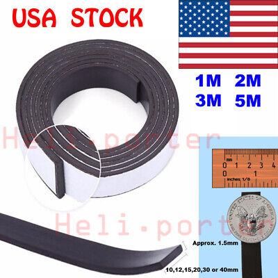 1m2m3m5m Rubber Self Adhesive Magnetic Stripe Flexible Magnet Diy Strip Tape