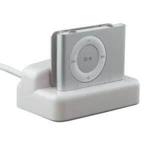 Multi Function USB SYNC+CHARGER DOCK CRADLE FOR IPOD 2ND GEN 2 G SHUFFLE White