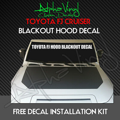 Toyota FJ Blackout Decal Hood Matte Black Out kit expedition Cruiser 07-13