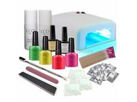 BRAND NEW CCO DELUXE SUMMER BRIGHTS GEL NAIL KIT POLISH VARNISH STARTER SET WITH 36W LAMP LIGHT