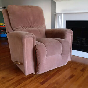 Lazy Boy recliner - beige in color