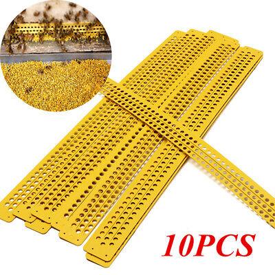 10pcs Bee Beehive Plastic Pollen Collector Traps Beekeeping Honeycomb Tool Set