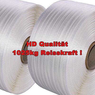 2 Rollen 19mm HD Textilband gewebt Textil-Umreifungsband * auch zum Holz bündeln