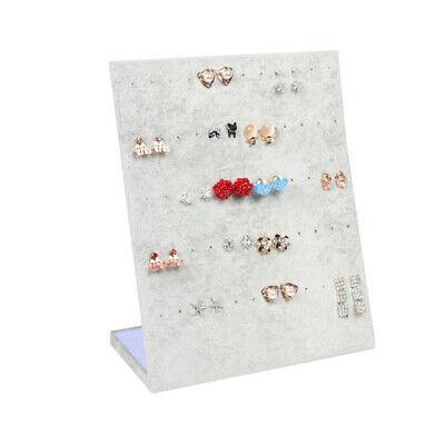 Gray Velet Ramp Jewelry Earrings Display Stand Holder Organizer Storage Cases
