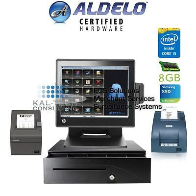 New Aldelo Pro Restaurant Pos - Hp Rp7800 8gb Ram Intel I5 256ssd Wkp