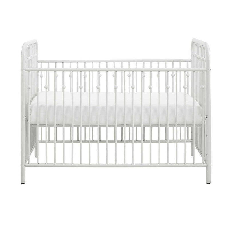 New in Box Little Seeds Ivy Metal Crib White Retail $375 | Cribs ...