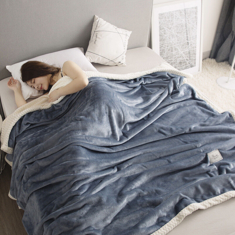 Blankets For Beds Warm Adults Thick Soft Flannel Queen King