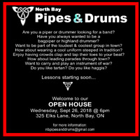 North Bay Pipes and Drums OPEN HOUSE *new students welcome*