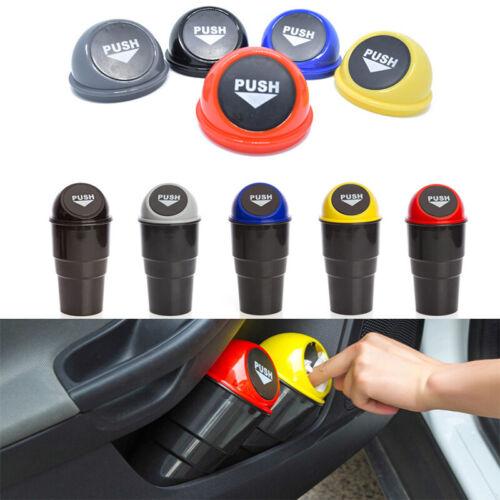 Mini Car Trash Garbage Can Auto Trash Dust Case Holder Round