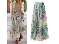 Long Beautiful floral Skirt