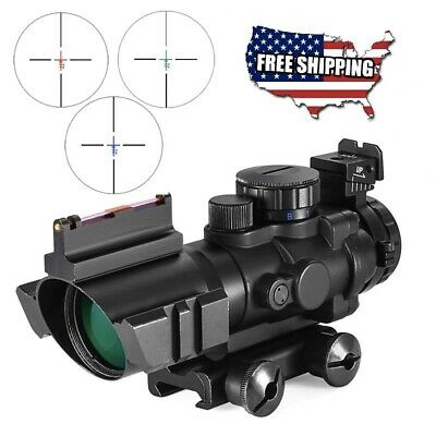 4x32 Acog Riflescope 20mm Dovetail Reflex Optics Scope Tactical Sight