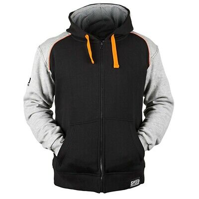 Speed & Strength Cruise Missile Mens Armored Hoody Gray/Orange XXL