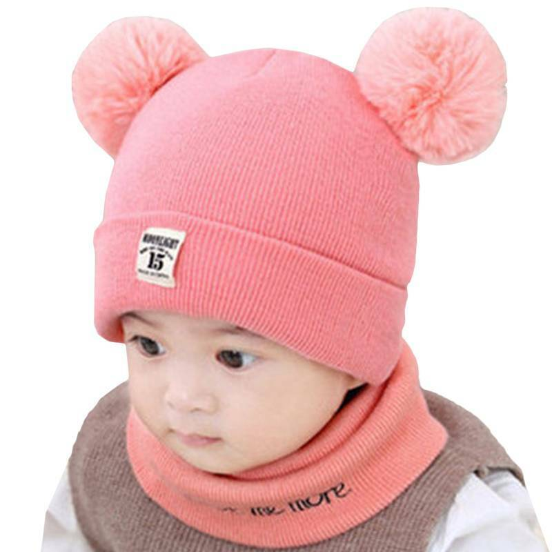Toddler Kids Baby Knit Hat Cap +