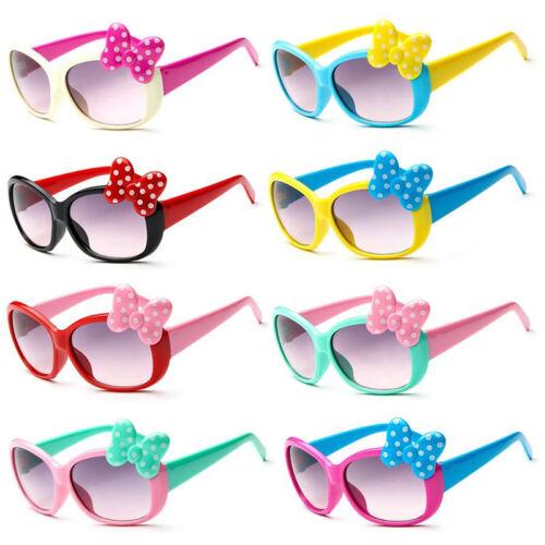 Kinder Mädchen Jungen Anti-UV Bogen Gläser Sonnenbrillen Cartoon Gläser