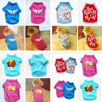 Various Puppy Dog Cat T-Shirt Summer Spring Vest Hot Small Pet Clothes - Hot Cat Costume