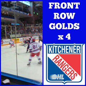 *** Ranger Tickets - 4 x Front Row Golds *** Kitchener / Waterloo Kitchener Area image 1