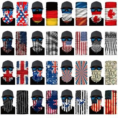 National flag Cycling Motorcycle Neck Scarf Face Mask Halloween Headband Bandana