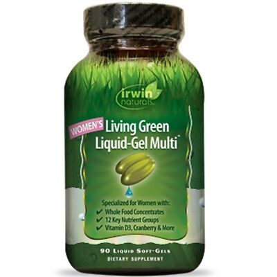 Living Multivitamin - Irwin Naturals Living Green Liquid Gel Multi For Women Multivitamin Multi 90 Ct