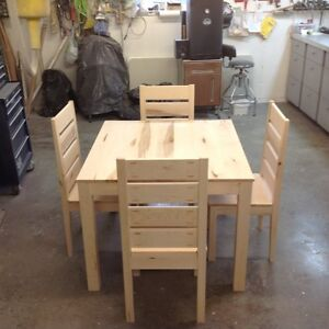 Hand made solid Maple Dining table set for sale